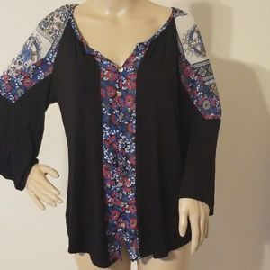 Anthropologie Fig And Flowers Women Top